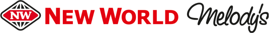 New World - Black and red logo